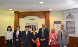 جامعة الاسكندرية تستقبل وفد المركز الصيني للعلوم والتكنولوجيا