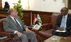جامعة الاسكندرية تستقبل سفير جمهورية رواندا