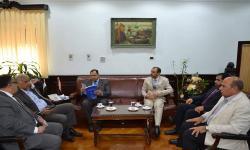 جامعة الاسكندرية تستقبل وفد سفارة سلطنة عمان لبحث امكانية الاستفادة من الدورات التدريبية