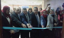 افتتاح المعرض الفني بمجمع العلوم الانسانية