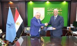 توقيع اتفاقية للتعاون بين جامعة الاسكندرية وأكاديمية الفنون
