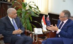 جامعة الاسكندرية تستقبل السفير الاسترالي