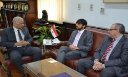 Alexandria University receives the delegation of Canada Embassy