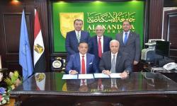 توقيع البروتوكول المشترك بين جامعة الاسكندرية والمركز التخصصي العالمي لعلاج الأورام