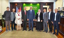 Dr. Essam El Kurdi received the delegation of the University of Song Yat-Sen, China.