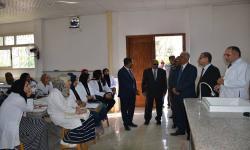 رئيس جامعة الاسكندرية يفتتح العيادات الإكلينيكية بكلية الطب البيطري