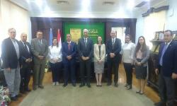 Dr. Essam Elkurdy receives a delegation of international relations advisors from British universities
