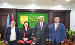 جامعة الإسكندرية تستقبل مدير مكتب الهيئة الألمانية للتبادل الأكاديمي