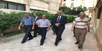 رئيس جامعة الاسكندرية يتفقد أعمال صيانة البنية التحتية بكلية الزراعة سابا باشا
