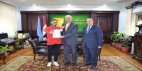طالب بكلية التربية يحصل على الميدالية البرونزية في بطولة أوروبا المفتوحة للبارا تايكوندو