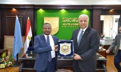 الدكتور عصام الكردي يستقبل نائب رئيس جامعة انجامينا