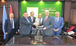 جامعة الإسكندرية توقع بروتوكول تعاون مشترك مع شركة انربك للبترول لخدمة المجالات البحثية والتدريبية