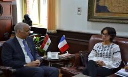 جامعة الاسكندرية تستقبل قنصل عام فرنسا