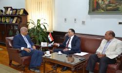 الدكتور عصام الكردي يستقبل نائب رئيس جامعة حمدان بن محمد
