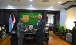 Alexandria University receives the Indian Ambassador