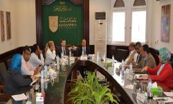 مجلس فرع مطروح يناقش نتائج زيارة لجنة المجلس الأعلى للجامعات