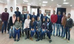 نائب رئيس جامعة الاسكندرية يستقبل الطلاب العائدين من دورة تدريبية بمستشفيات