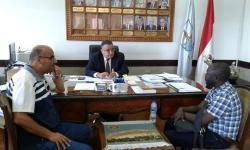 تعاون مشترك بين جامعتي الاسكندرية وانجامينا في مجال مشروعات الطاقة المتجددة