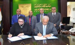 جامعة الاسكندرية توقع مذكرة تفاهم مع جهاز تنمية المشروعات تهدف إلى نشر ثقافة ريادة الأعمال