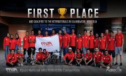 فريق M.I.A بجامعة الإسكندرية يفوز بالمركز الأول فى مسابقة روبوكون