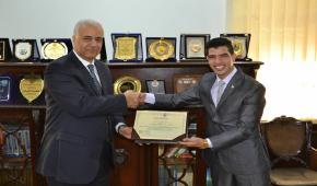 الفائز بالمركز الأول في المسابقة الدولية للشباب والتنمية المستدامة