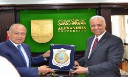 جامعة الاسكندرية تستقبل الأمين العام لجامعة الدول العربية