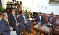 Alexandria University receives the ambassador of Tanzania