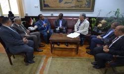 جامعة الاسكندرية تناقش اتفاقية التعاون مع