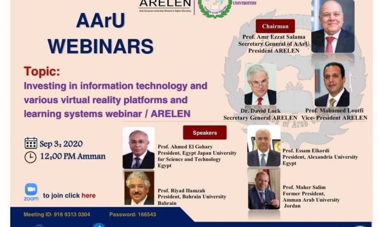 Investing in information technology and various virtual reality platforms and learning systems webinar