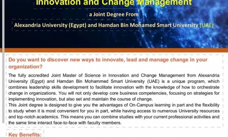 Master degree in Innovation and change management