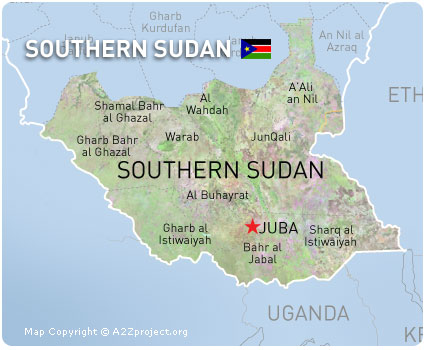 map southsudan